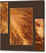 Wings Of Gold Brown Bckgrnd Canvas Print