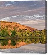 Golden Hour Contemplation At Moss Lake - Enchanted Rock Fredericksburg Texas Hill Country Canvas Print