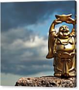 Golden Prosperity Buddha Canvas Print