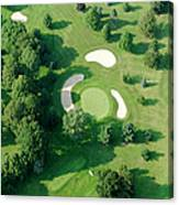 Golf Course Close Up From The Air Canvas Print