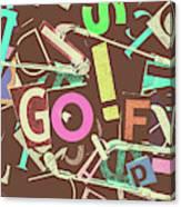 Golfing Print Press Canvas Print