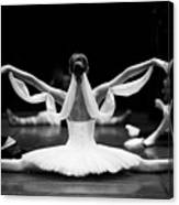 Gorgeous Ballerina Repeating Movements Canvas Print