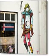 Graffiti By Deih In Reykjavik Canvas Print