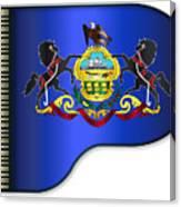 Grand Pennsylvania Flag Canvas Print