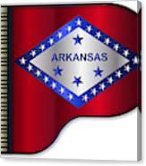 Grand Piano Arkansas Flag Canvas Print