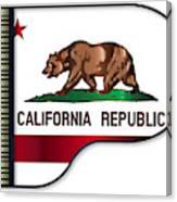 Grand Piano California Flag Canvas Print