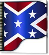 Grand Piano Confederate Flag Canvas Print
