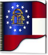 Grand Piano Georgia Flag Canvas Print