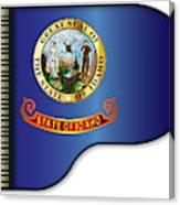 Grand Piano Idaho Flag Canvas Print