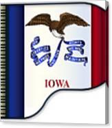 Grand Piano Iowa Flag Canvas Print