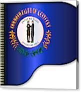 Grand Piano Kentucky Flag Canvas Print