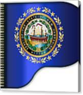 Grand Piano New Hampshire Flag Canvas Print