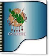 Grand Piano Oklahoma Flag Canvas Print