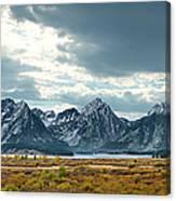 Grand Tetons In Dramatic Light Canvas Print