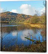 Grasmere In Late Autumn In Lake District National Park Cumbria Canvas Print