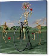 Grateful Dancing Cheer Skeletons Canvas Print