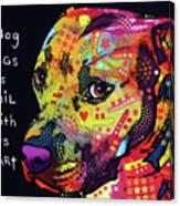 Gratitude Pitbull Canvas Print