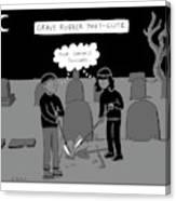 Grave Robber Meet-cute Canvas Print