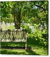 Graveyard Bench Canvas Print