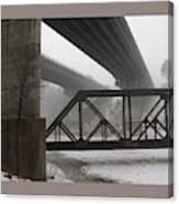 Gray Day Bridging Canvas Print