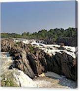 Great Falls On The Potomac Panorama  Canvas Print