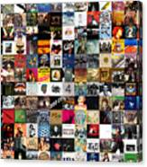 Greatest Rock Albums Of All Time Canvas Print