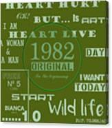 Green 1982 Original Canvas Print