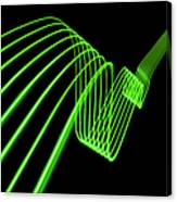 Green Abstract Coloured Lights Trails Canvas Print