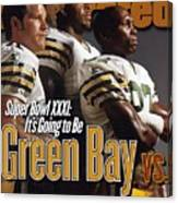 Green Bay Packers, 1996 Nfl Football Preview Issue Sports Illustrated Cover Canvas Print