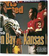 Green Bay Packers And Kansas City Chiefs, 1996 Nfl Football Sports Illustrated Cover Canvas Print
