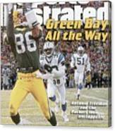 Green Bay Packers Antonio Freeman, 1997 Nfc Championship Sports Illustrated Cover Canvas Print