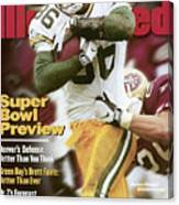 Green Bay Packers Antonio Freeman, 1998 Nfc Championship Sports Illustrated Cover Canvas Print