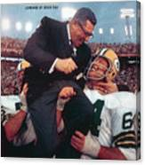 Green Bay Packers Coach Vince Lombardi, Super Bowl II Sports Illustrated Cover Canvas Print