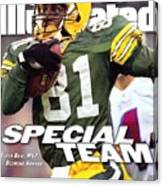 Green Bay Packers Desmond Howard, Super Bowl Xxxi Sports Illustrated Cover Canvas Print