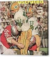 Green Bay Packers Jim Taylor And Forrest Gregg Sports Illustrated Cover Canvas Print