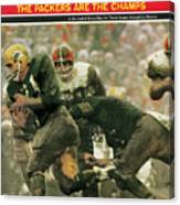 Green Bay Packers Jimmy Taylor, 1966 Nfl Championship Sports Illustrated Cover Canvas Print