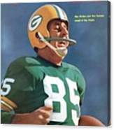 Green Bay Packers Max Mcgee, Super Bowl I Sports Illustrated Cover Canvas Print