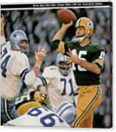 Green Bay Packers Qb Bart Starr, 1967 Nfl Championship Sports Illustrated Cover Canvas Print