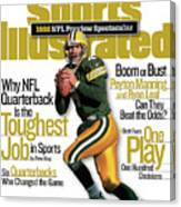Green Bay Packers Qb Brett Favre, 1998 Nfl Football Preview Sports Illustrated Cover Canvas Print