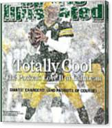 Green Bay Packers Qb Brett Favre, 2008 Nfc Divisional Sports Illustrated Cover Canvas Print