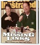 Green Bay Packers Qb Brett Favre And Coach Mike Holmgren Sports Illustrated Cover Canvas Print