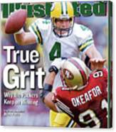 Green Bay Packers Qb Brett Favre... Sports Illustrated Cover Canvas Print