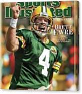 Green Bay Packers Qb Brett Favre Special Tribute Edition Sports Illustrated Cover Canvas Print