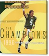 Green Bay Packers Qb Brett Favre, Super Bowl Xxxi Sports Illustrated Cover Canvas Print