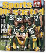 Green Bay Packers The Perfect Pack Sports Illustrated Cover Canvas Print