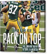 Green Bay Packers Vs Pittsburgh Steelers, Super Bowl Xlv Sports Illustrated Cover Canvas Print