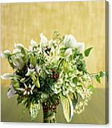 Green Bouquet Canvas Print