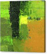 Green Envy Abstract Painting Canvas Print