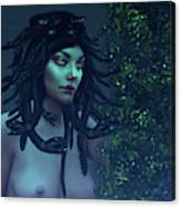Green Eyed Medusa Canvas Print
