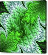 Green Frosty Canyon Canvas Print